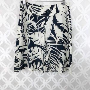 Ann Taylor Silk Tropical Leaves Skirt